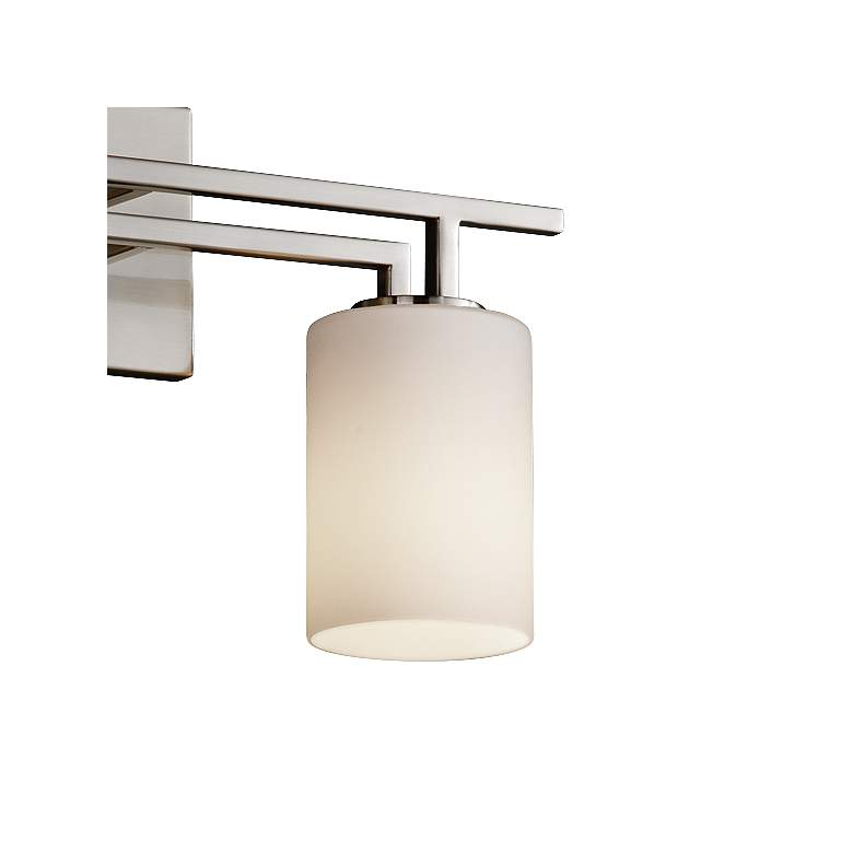 "Fusion Aero 26"" Wide Brushed Nickel 3-Light Bath Light more views"