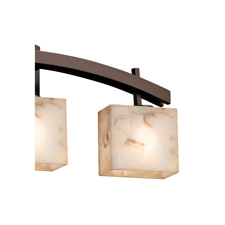 "Archway 25 1/2"" Wide Bronze Bath Light with Rectangular Shades more views"