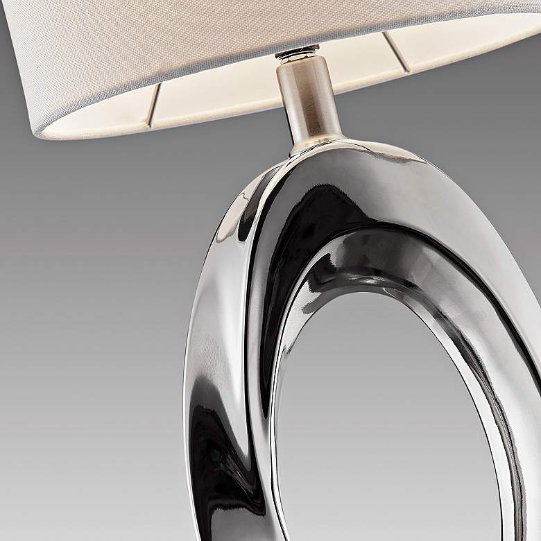 Lite Source Clover Chrome Ceramic Table Lamp more views