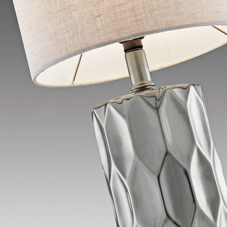 Lite Source Halsey Silver Ceramic Table Lamp more views
