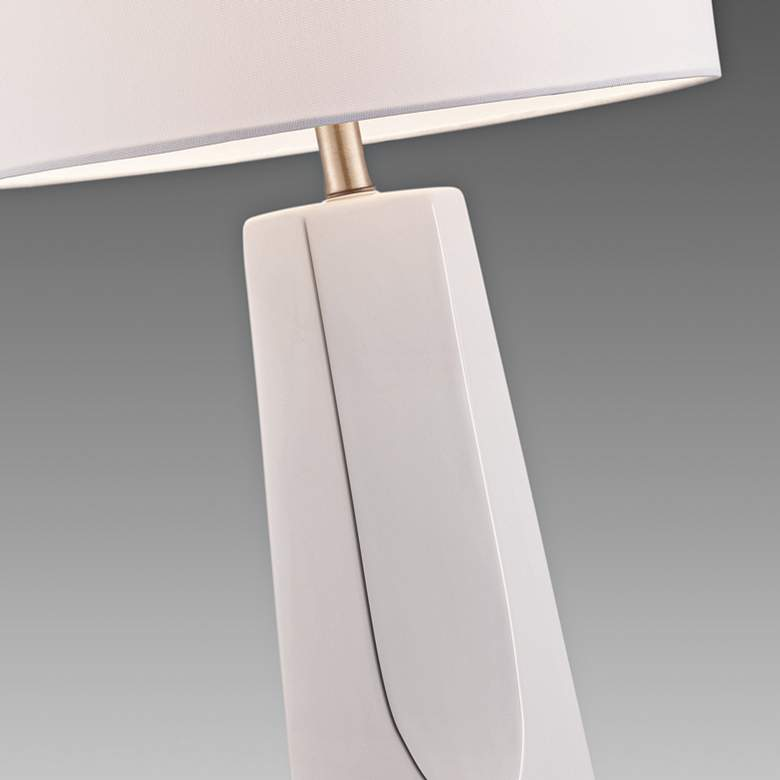 Lite Source Tyrell White Ceramic Table Lamp more views