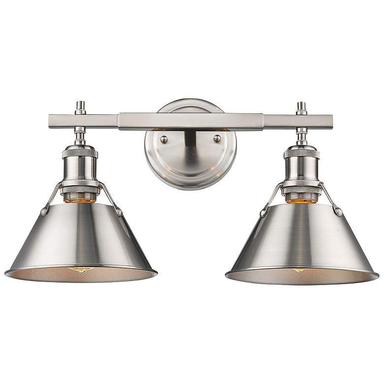 "Orwell 10"" High Pewter 2-Light Wall Sconce more views"