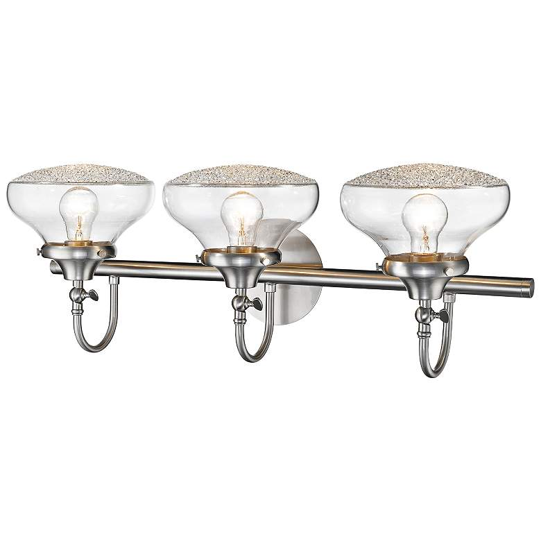 "Asha 28 1/2"" Wide Pewter 3-Light Bath Light more views"
