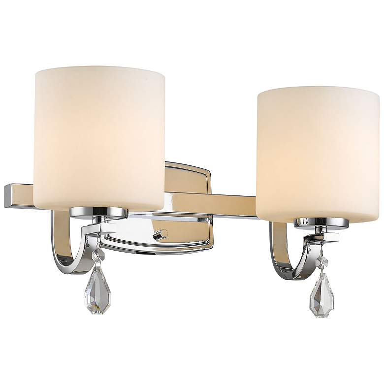 "Evette 10 3/4"" High Chrome 2-Light Wall Sconce more views"
