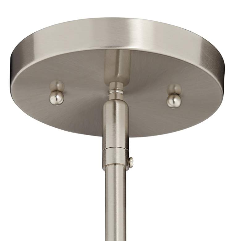 "Possini Euro Belford 11"" Wide Brushed Nickel Mini Pendant more views"