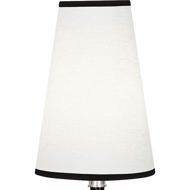 Voltaire Polished Nickel And Black Leather Double Wall Lamp more views