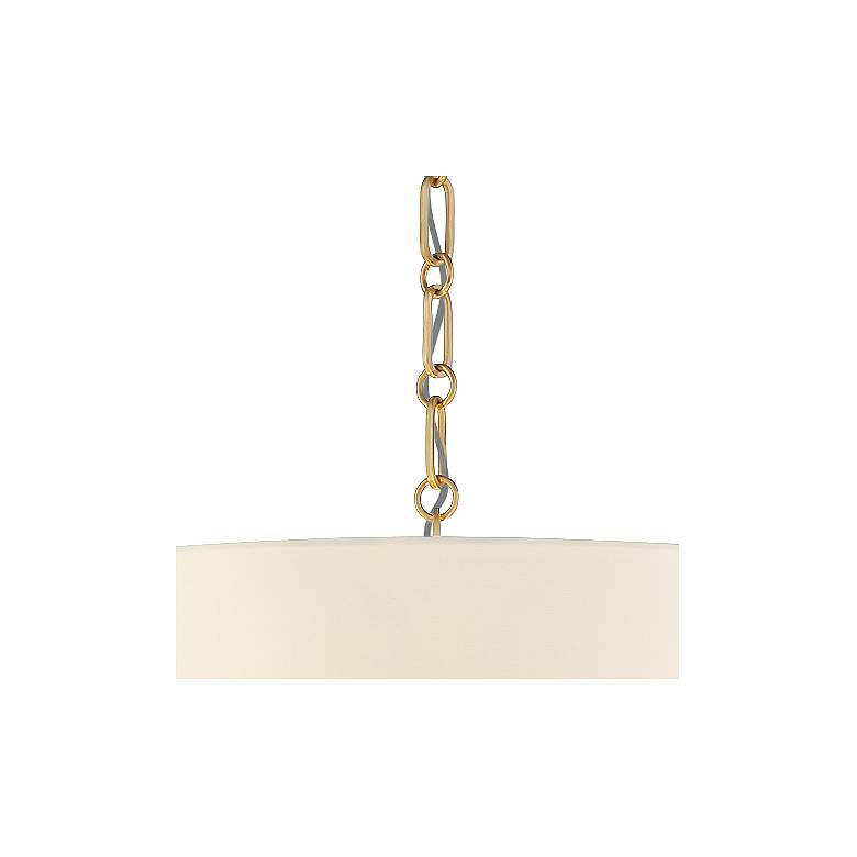 "20"" Wide Warm Gold Pendant Light with White Shade more views"