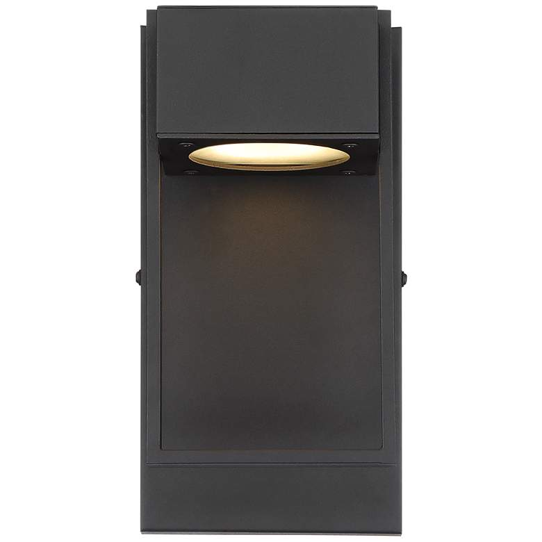 "Pavel 9 1/2"" High Textured Black LED Outdoor Wall Light more views"