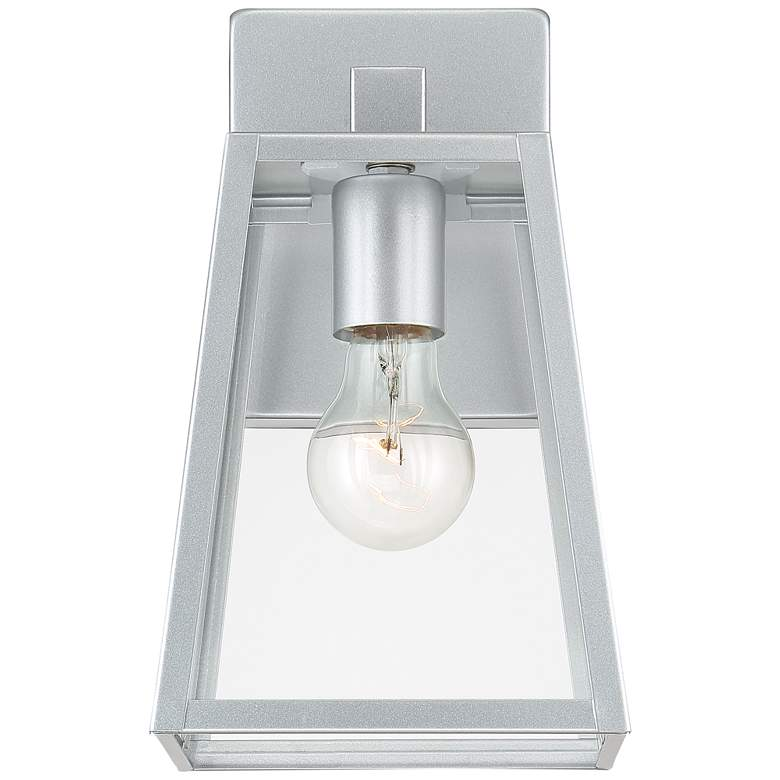 "Arrington 10 3/4"" High Glass and Silver Outdoor Wall Light more views"
