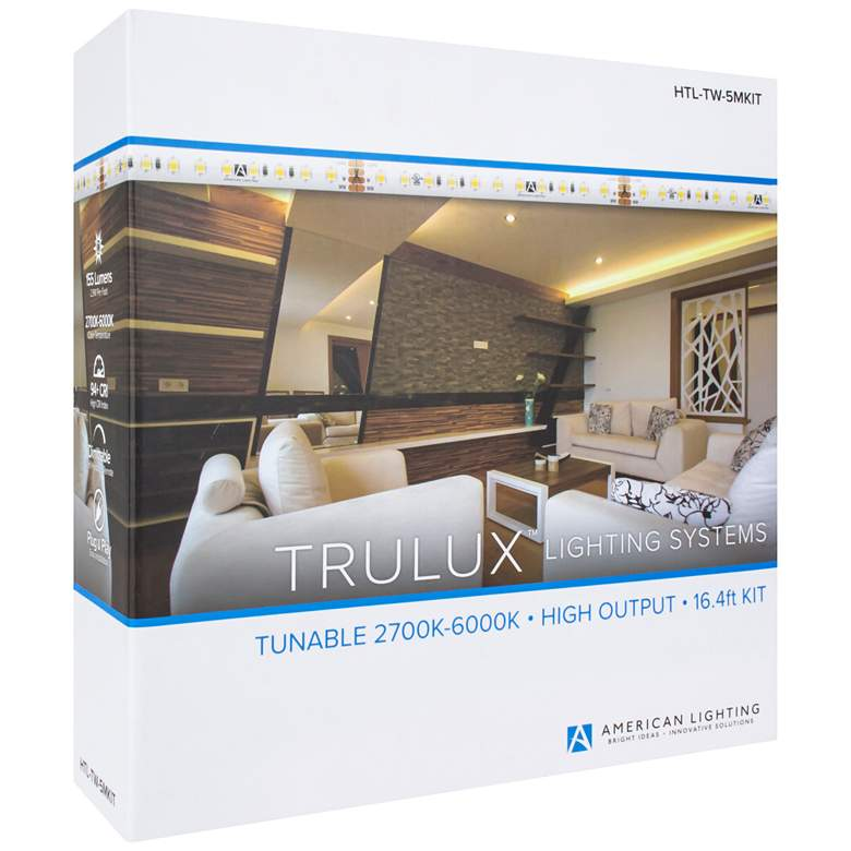 Trulux 16.4-Foot Tunable CCT High Output LED Tape Light Kit more views