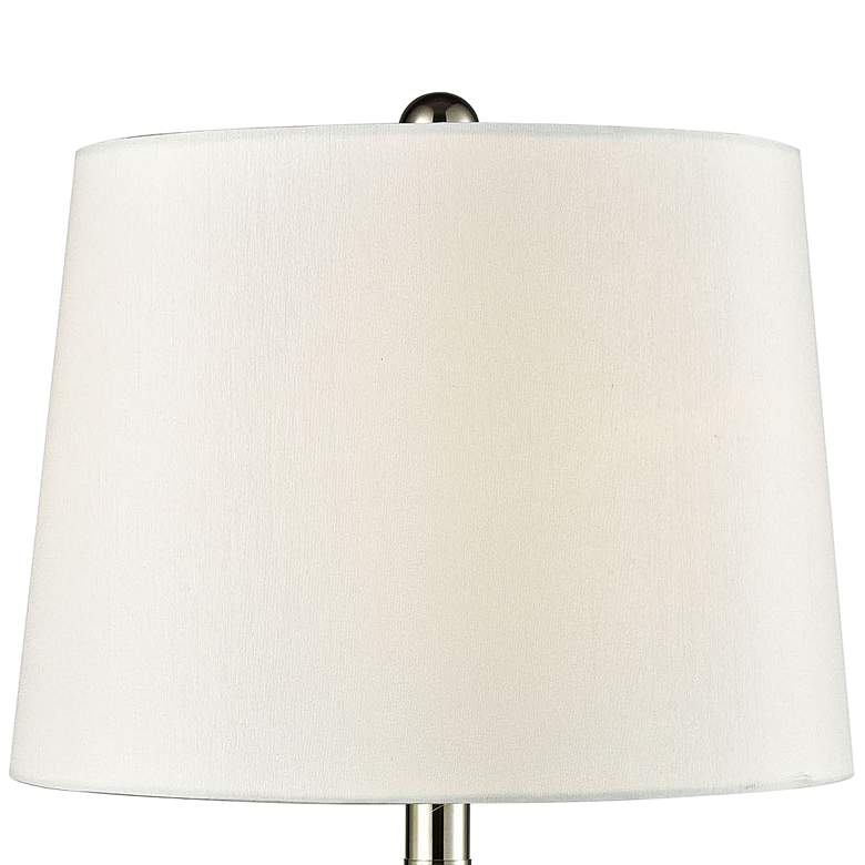 Chislett Polished Nickel and Crystal Table Lamp more views