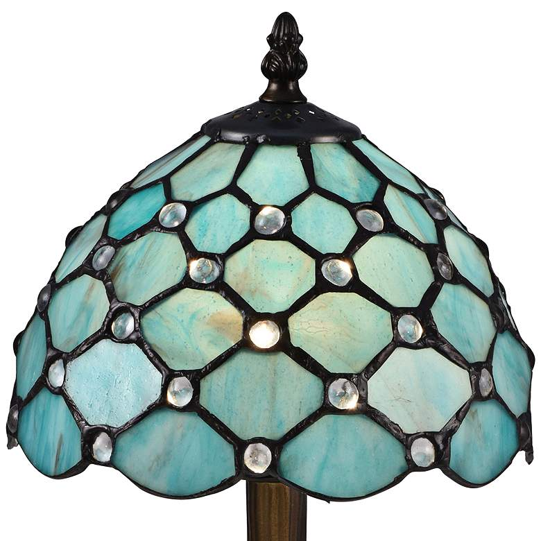 "Castle Point 15""H Bronze Tiffany-Style Accent Table Lamp more views"