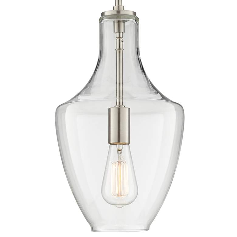 "Milstone 8 3/4"" Wide Brushed Nickel Mini Pendant more views"
