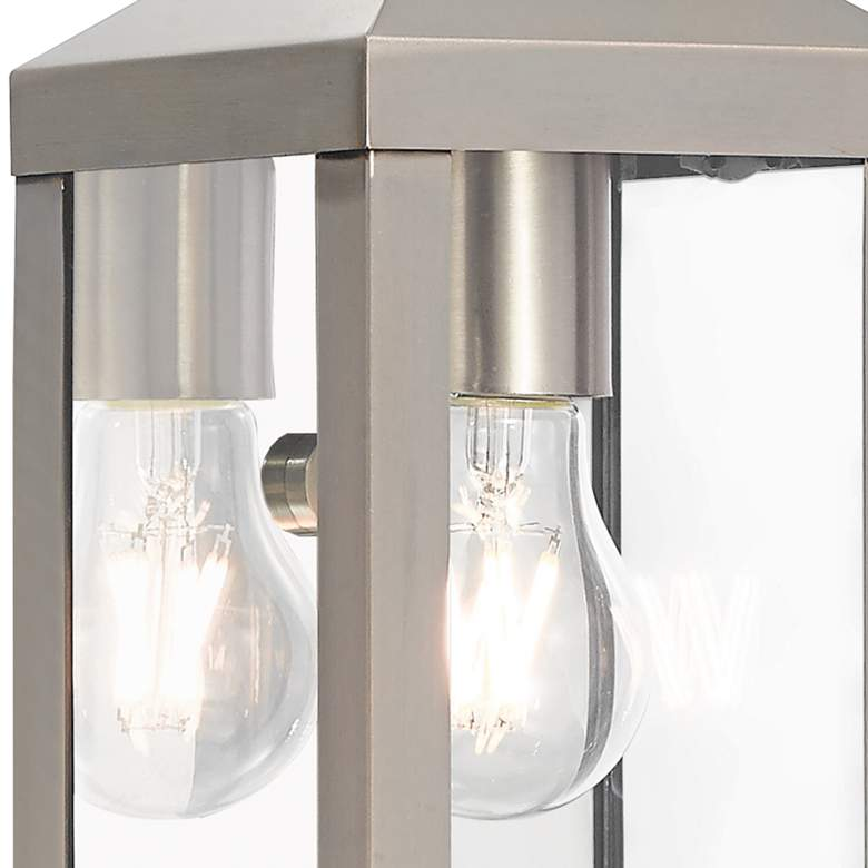 "Nyack 10 1/2"" High Brushed Nickel Outdoor Wall Light more views"