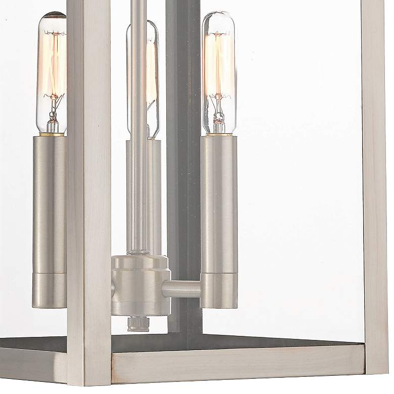 "Nyack 17 1/2"" High Brushed Nickel Outdoor Wall Light more views"