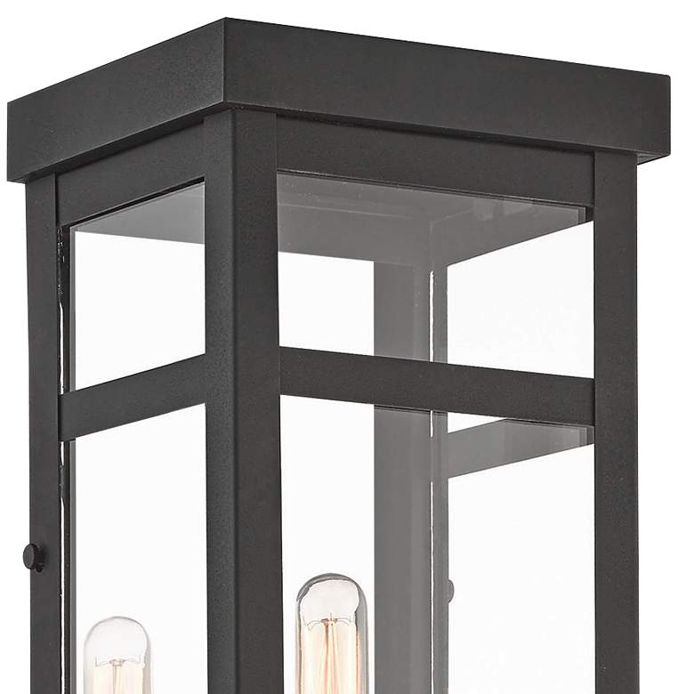 "Hopewell 22"" High Black 2-Light Outdoor Wall Light more views"