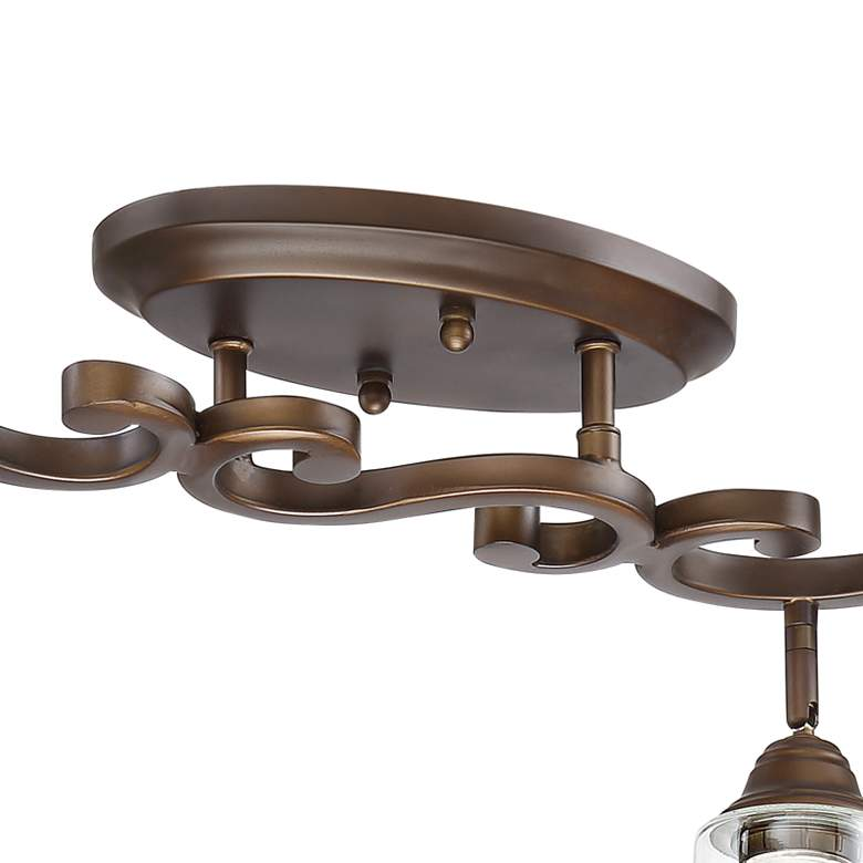 Pro Track Myrna 4-Light Bronze Scroll Track Fixture more views