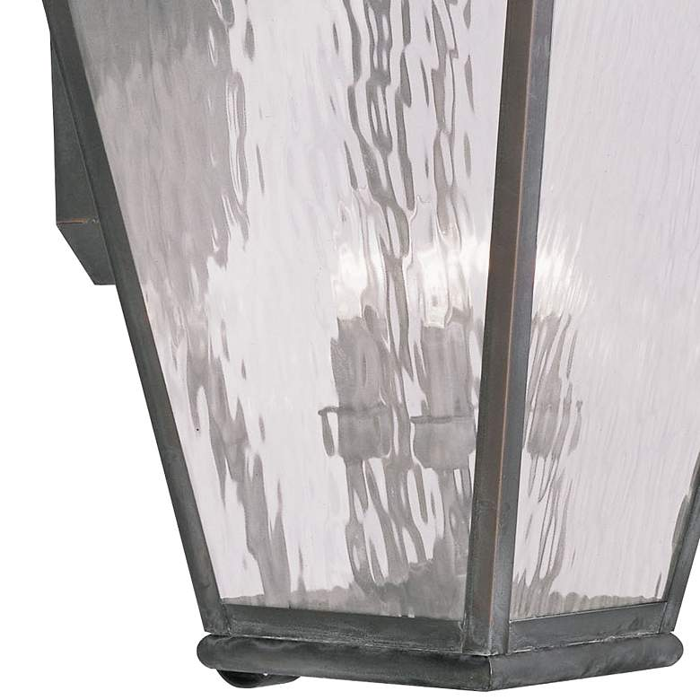 "Exeter 38"" High Vintage Pewter Outdoor Wall Light more views"
