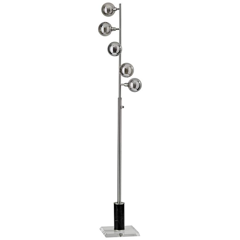 Calder Brushed Steel Modern LED Floor Lamp more views
