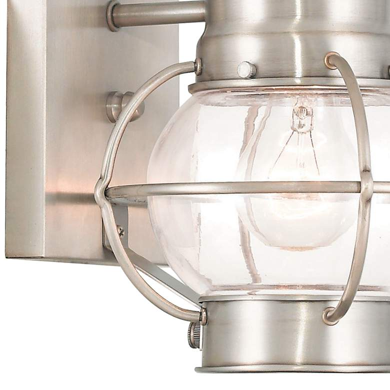 "Newburyport 13 3/4"" High Brushed Nickel Outdoor Wall Light more views"