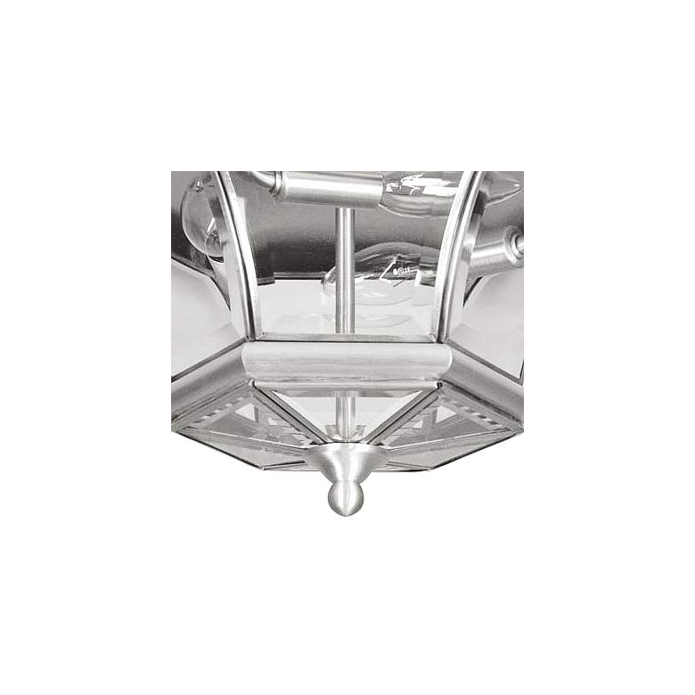 "Monterey 12 1/2""W Nickel Outdoor Ceiling Light more views"