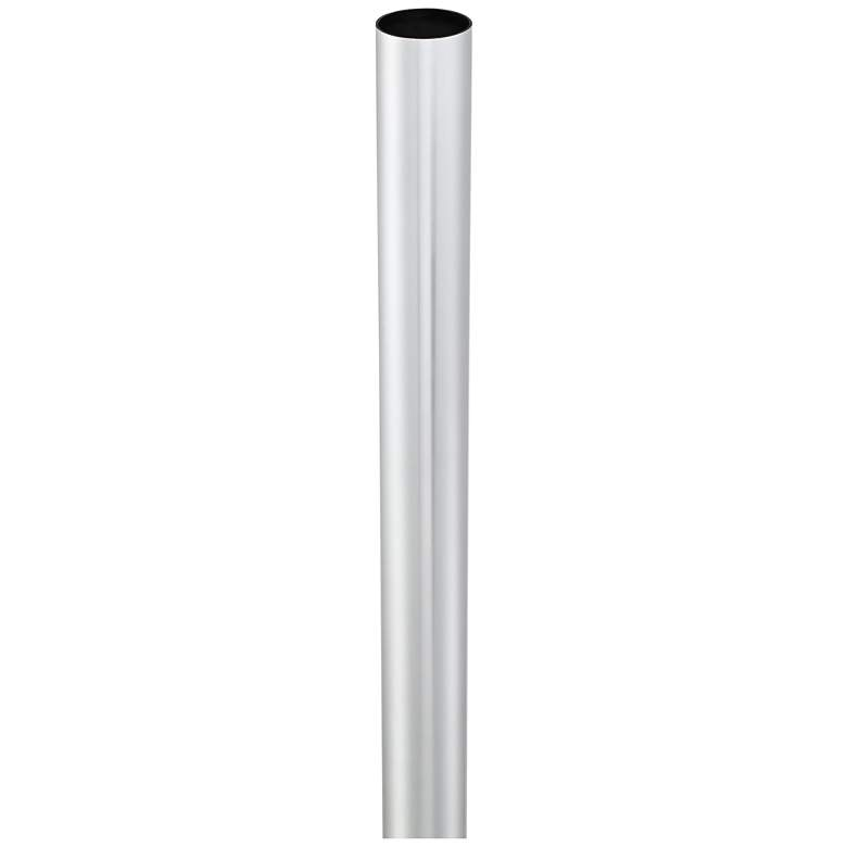 "Chrome 84"" High Outdoor Direct Burial Post Light Pole more views"