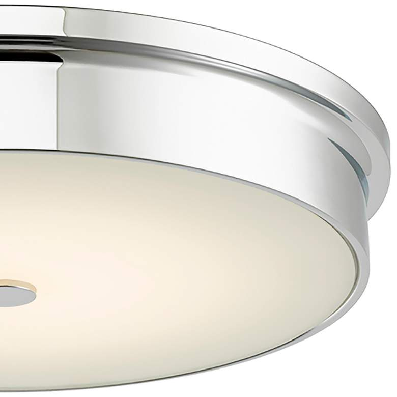 "Spark Chrome 15"" Wide Modern LED Ceiling Light more views"
