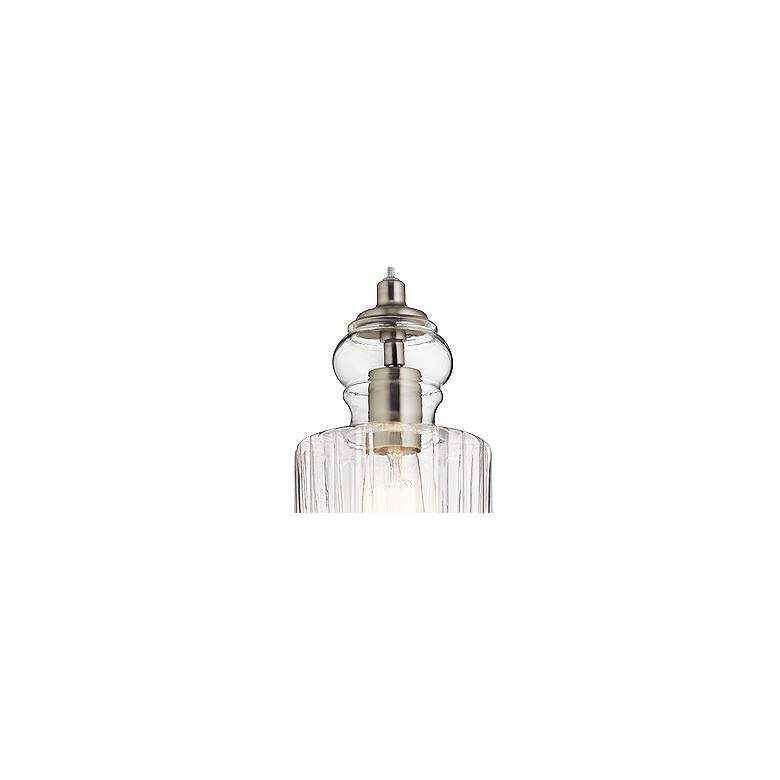 "Kichler Riviera 5 3/4"" Wide Brushed Nickel Mini Pendant more views"