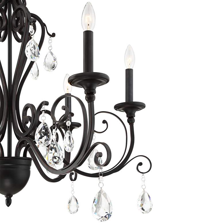 "Charlottesville 30"" Wide Antique Bronze 6-Light Chandelier more views"