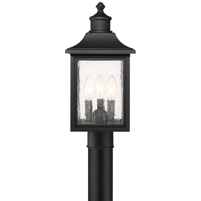 "Moray Bay 17"" High Black 3-Light Outdoor Post Light"