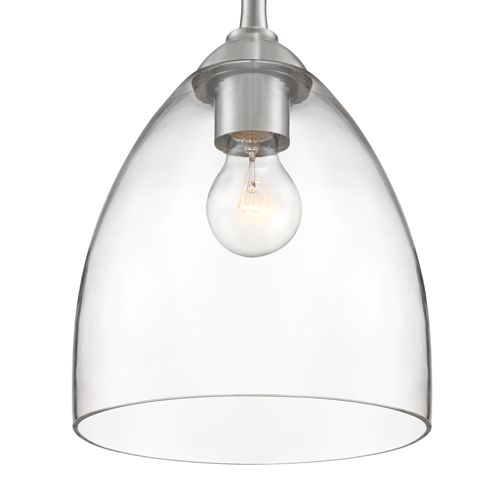 "Possini Euro Lilah 8 3/4""W Brushed Nickel Swag Mini Pendant"