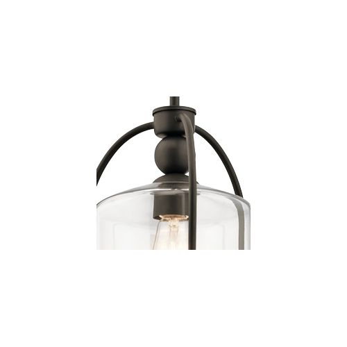 "Kichler Omerta 9 1/2"" Wide Oiled Bronze Mini Pendant"