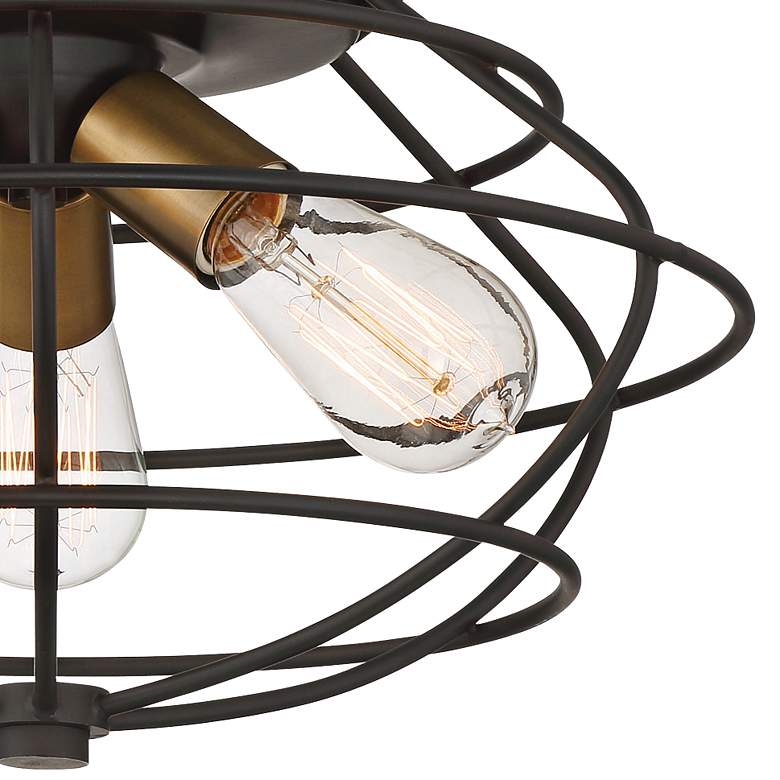 "Jax 15"" Wide Vintage Bronze 3-Light Ceiling Light more views"