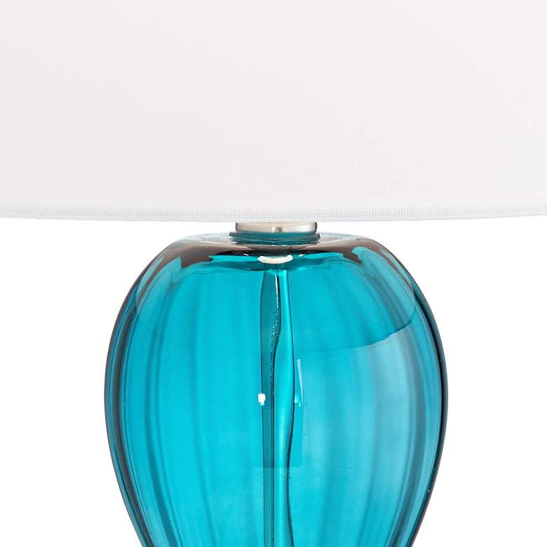 Page Aquamarine Glass Table Lamp more views