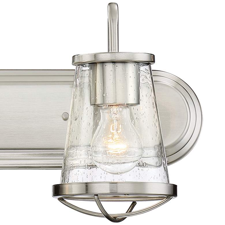 "Darby 9 3/4"" High Satin Platinum 2-Light Wall Sconce more views"
