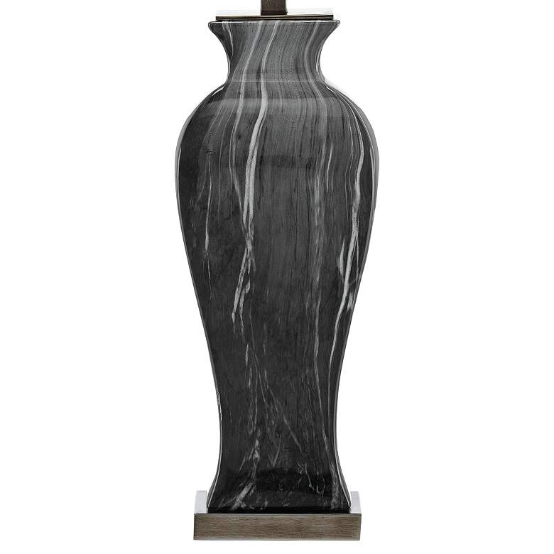 Currey and Company Swift Black and White Ceramic Table Lamp more views