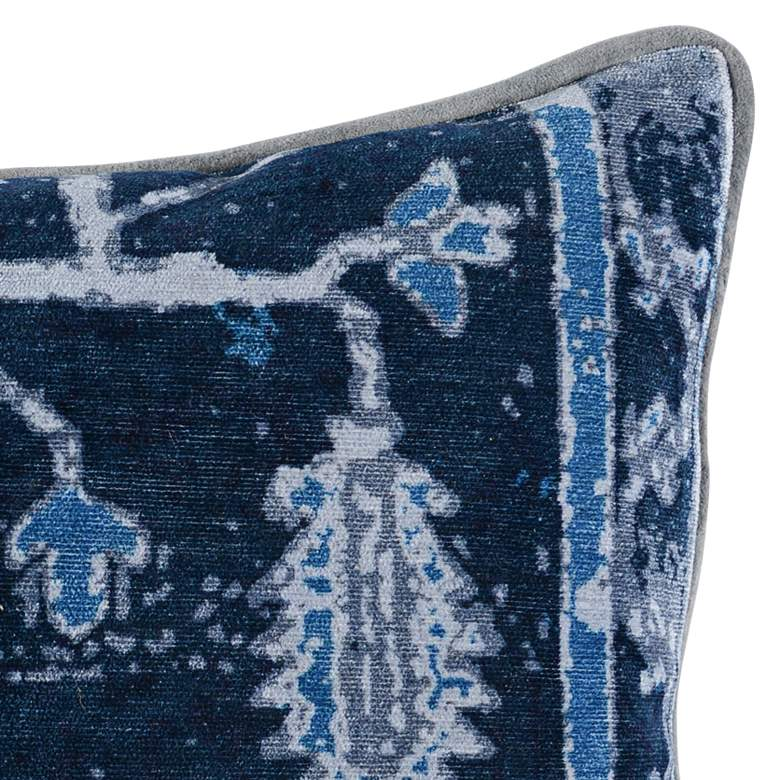 "Stella Dusty Blue Multi-Color 20"" x 14"" Throw Pillow more views"