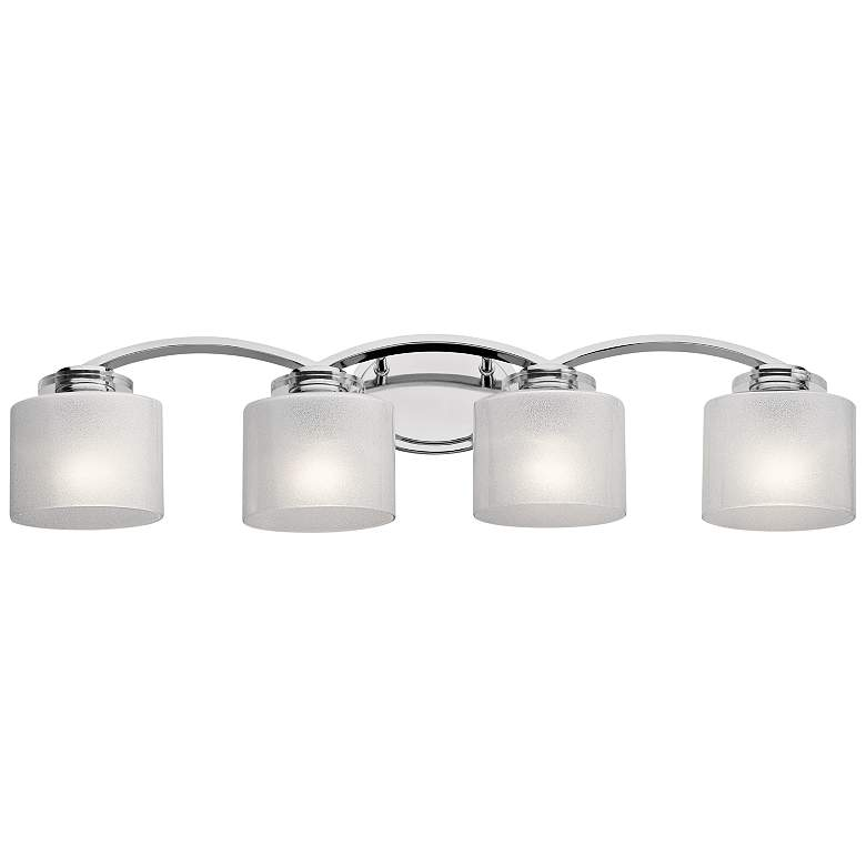 "Kichler Archer 33 1/4"" Wide Chrome 4-Light Bath Light more views"