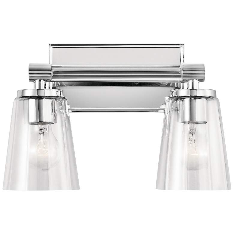 "Kichler Audrea 9 1/2"" High Chrome 2-Light Wall Sconce more views"