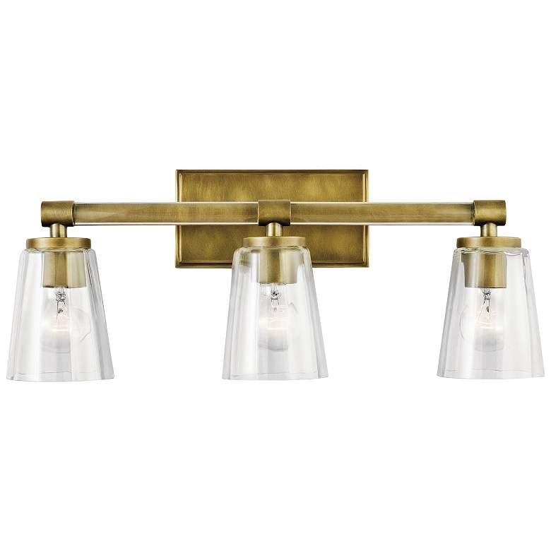 "Kichler Audrea 23 3/4"" Wide Natural Brass 3-Light Bath Light more views"