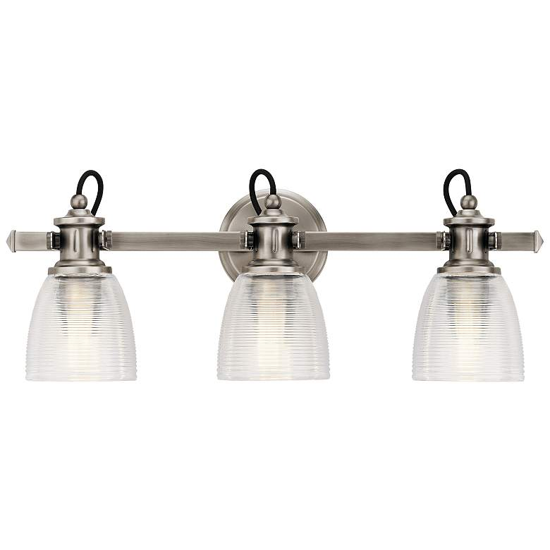 "Kichler Flagship 24"" Wide Classic Pewter 3-Light Bath Light more views"