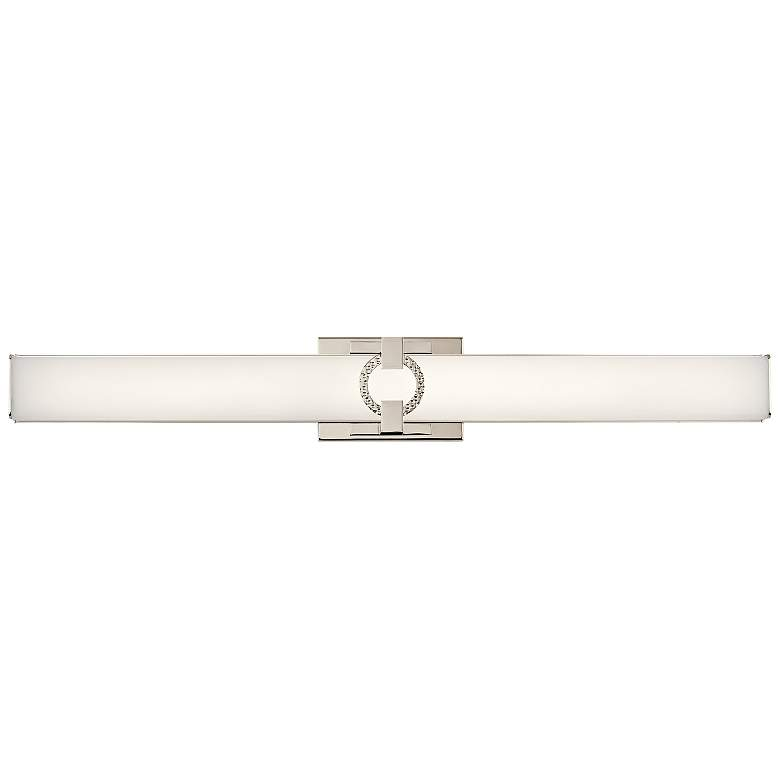 "Kichler Bordeaux 32"" Wide Polished Nickel LED Bath Light more views"