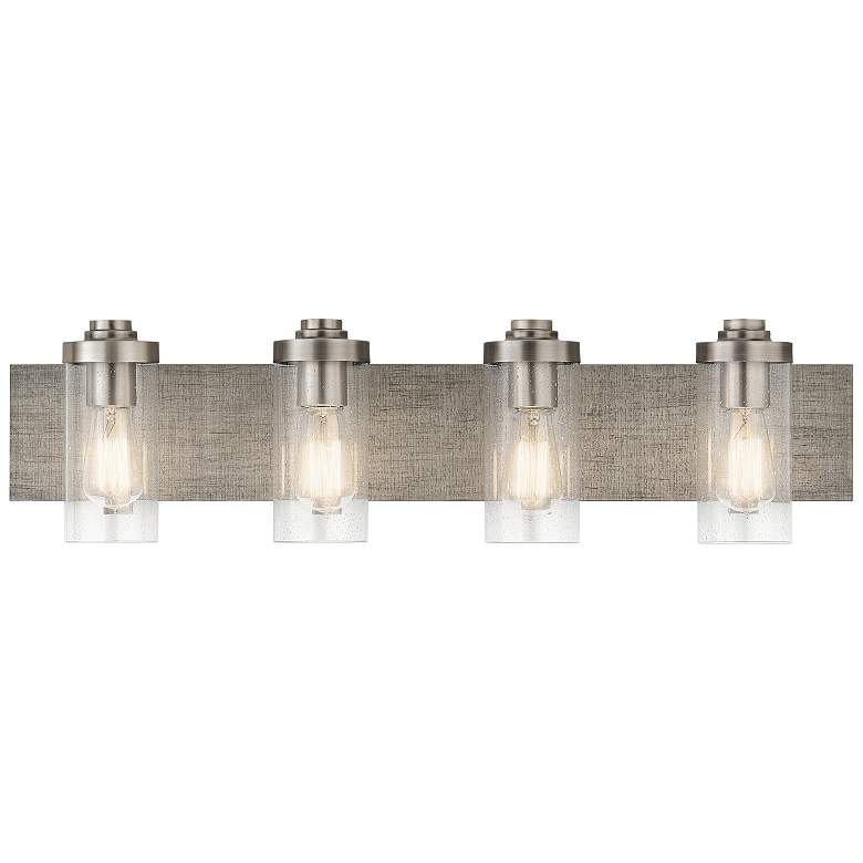 "Kichler Dalwood 32"" Wide Classic Pewter 4-Light Bath Light more views"