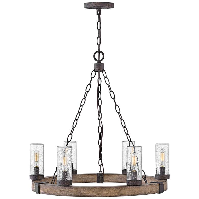 "Hinkley Sawyer 24"" Wide Sequoia 6-Light Outdoor Chandelier more views"
