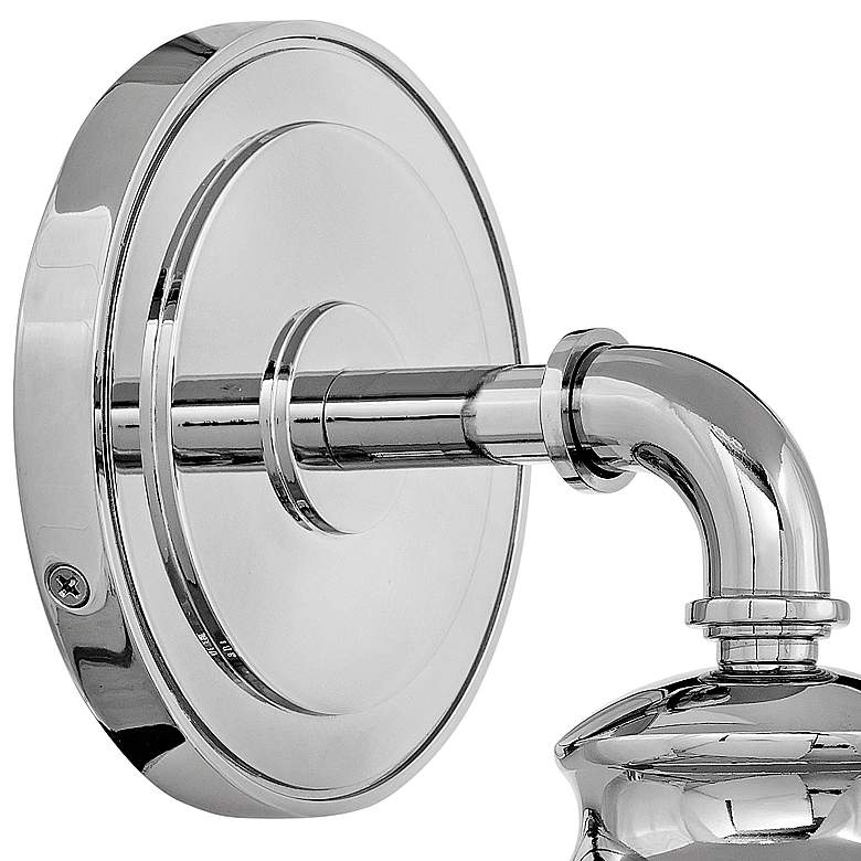 "Hinkley Fritz 11 3/4"" High Chrome Wall Sconce more views"