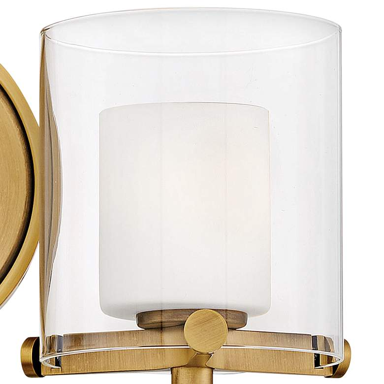"Hinkley Rixon 7"" High Heritage Brass 2-Light Wall Sconce more views"