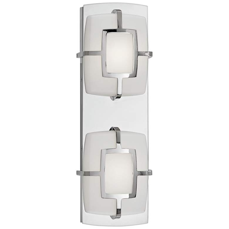 "Hinkley Sisley 5""H Polished Nickel 2-Light LED Wall Sconce more views"