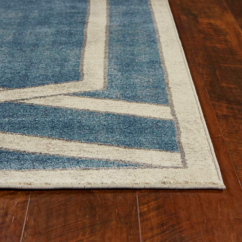 "Libby Langdon Winston 5817 5'3""x7'7"" Teal Area Rug more views"