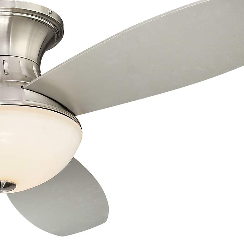 "44"" Possini Encore Brushed Nickel Hugger LED Ceiling Fan more views"