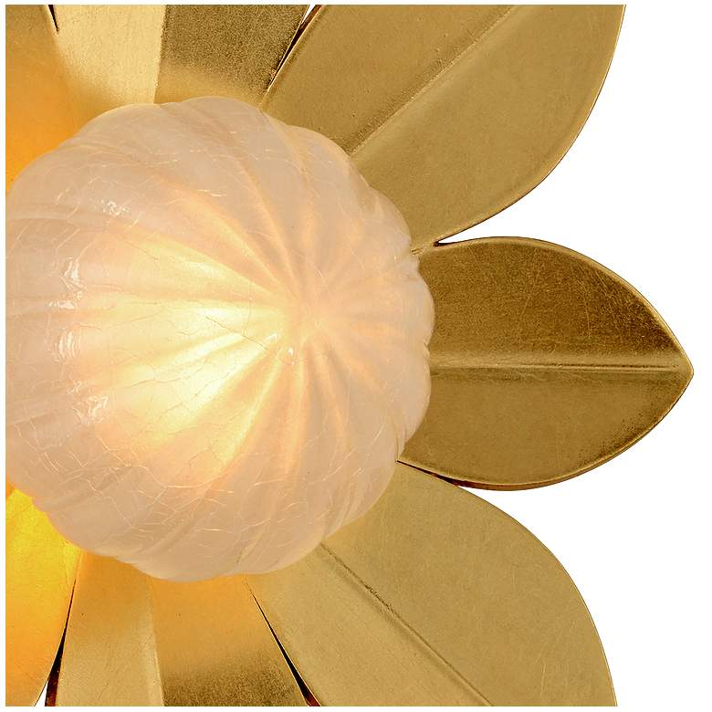 "Corbett Gigi 15"" High Gold Leaf LED Wall Sconce more views"